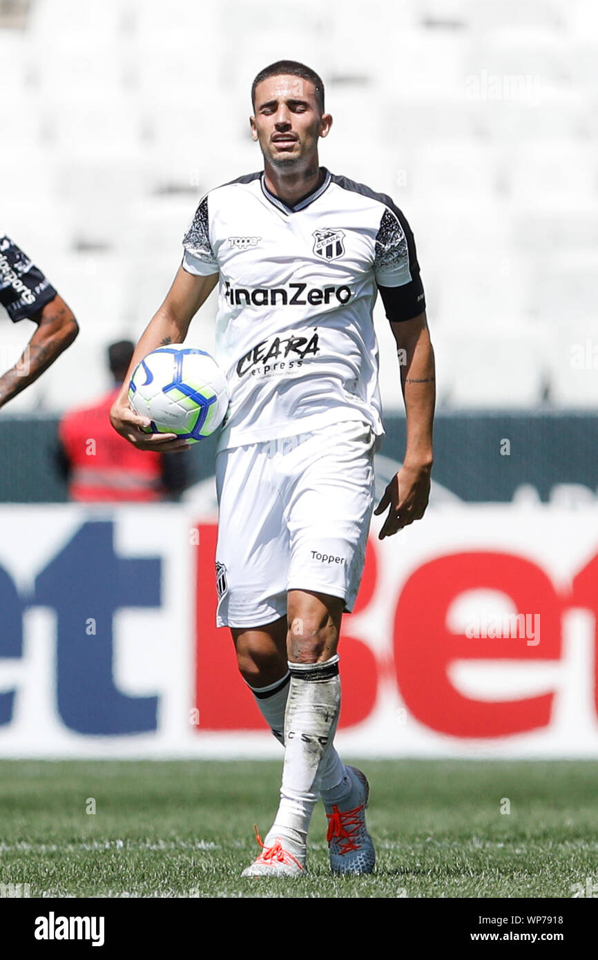 Sao Paulo Sp 07 09 2019 Corinthians X Ceara Thiago Galhardo Do Ceara During A Match Between