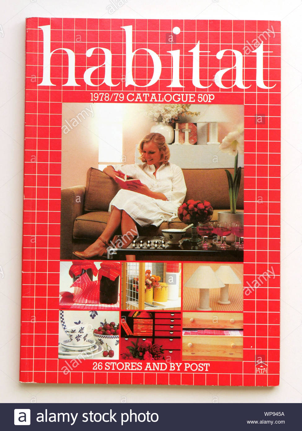 Front Cover Shot Of Vintage Habitat 1978 79 Home Furnishing Store Catalogue From The Late 1970s Uk Stock Photo Alamy