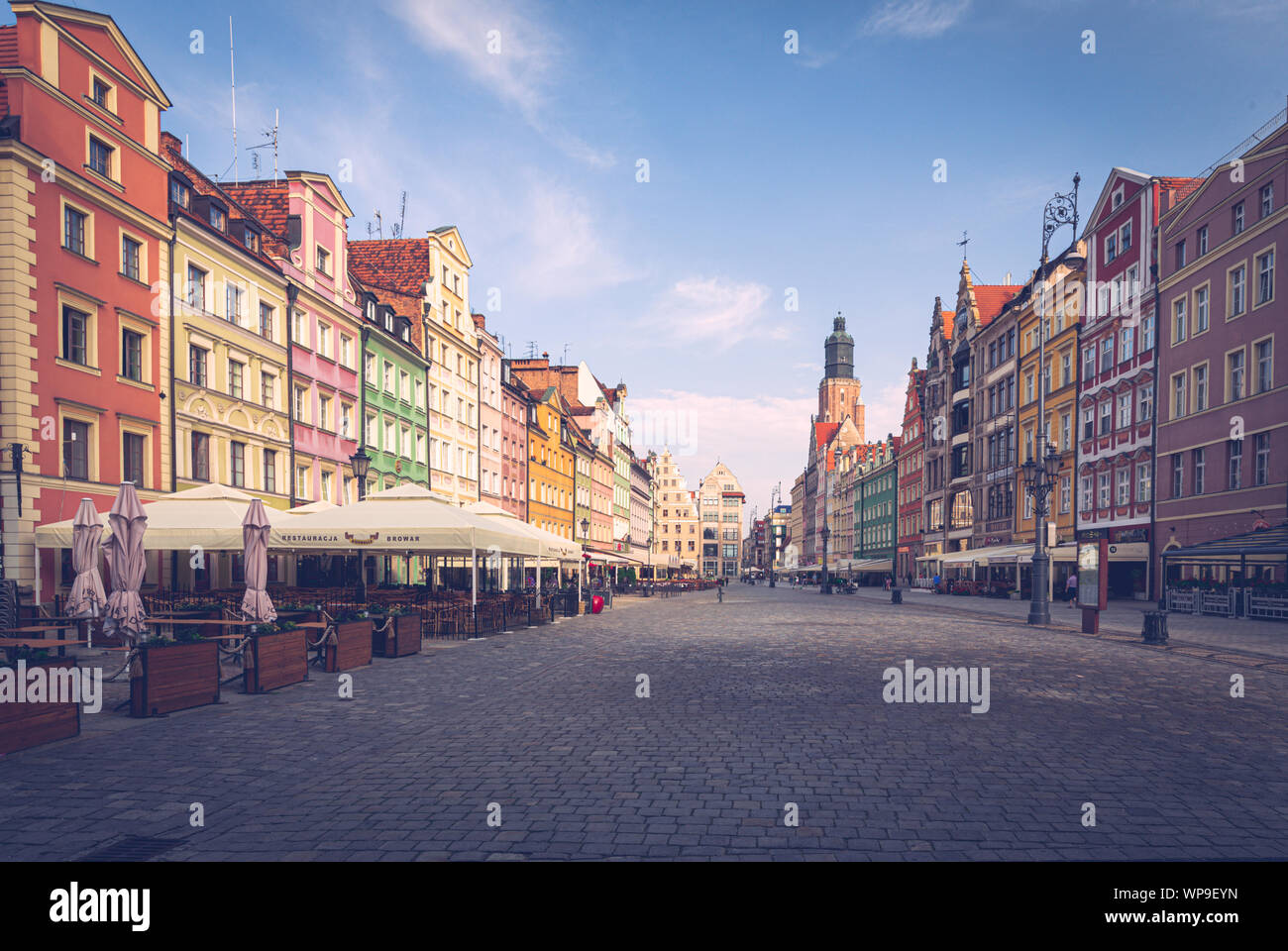 Wroclaw. the main market in the old city. June 2019 Stock Photo
