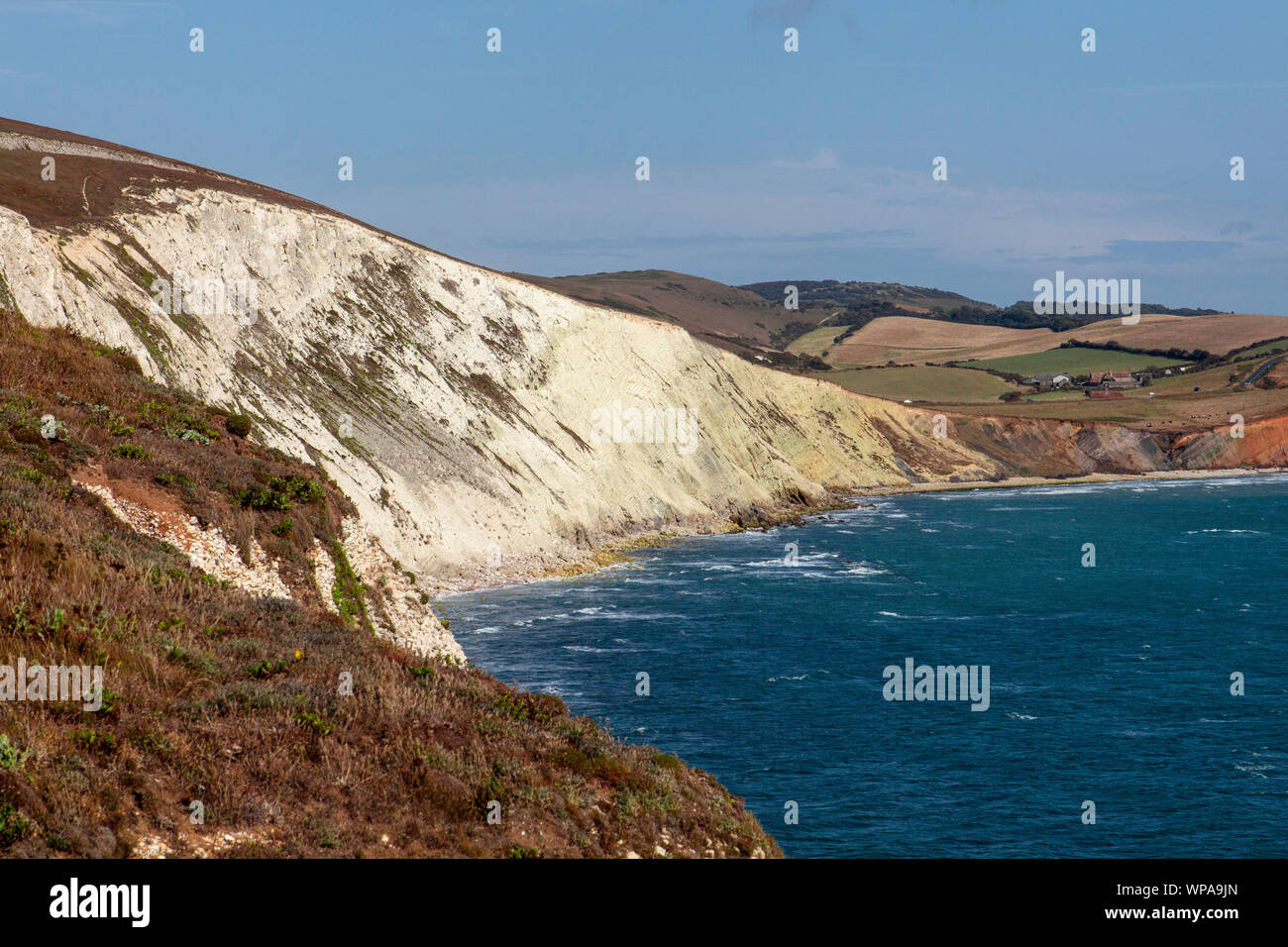 Isle of Wight coastline UK Stock Photo