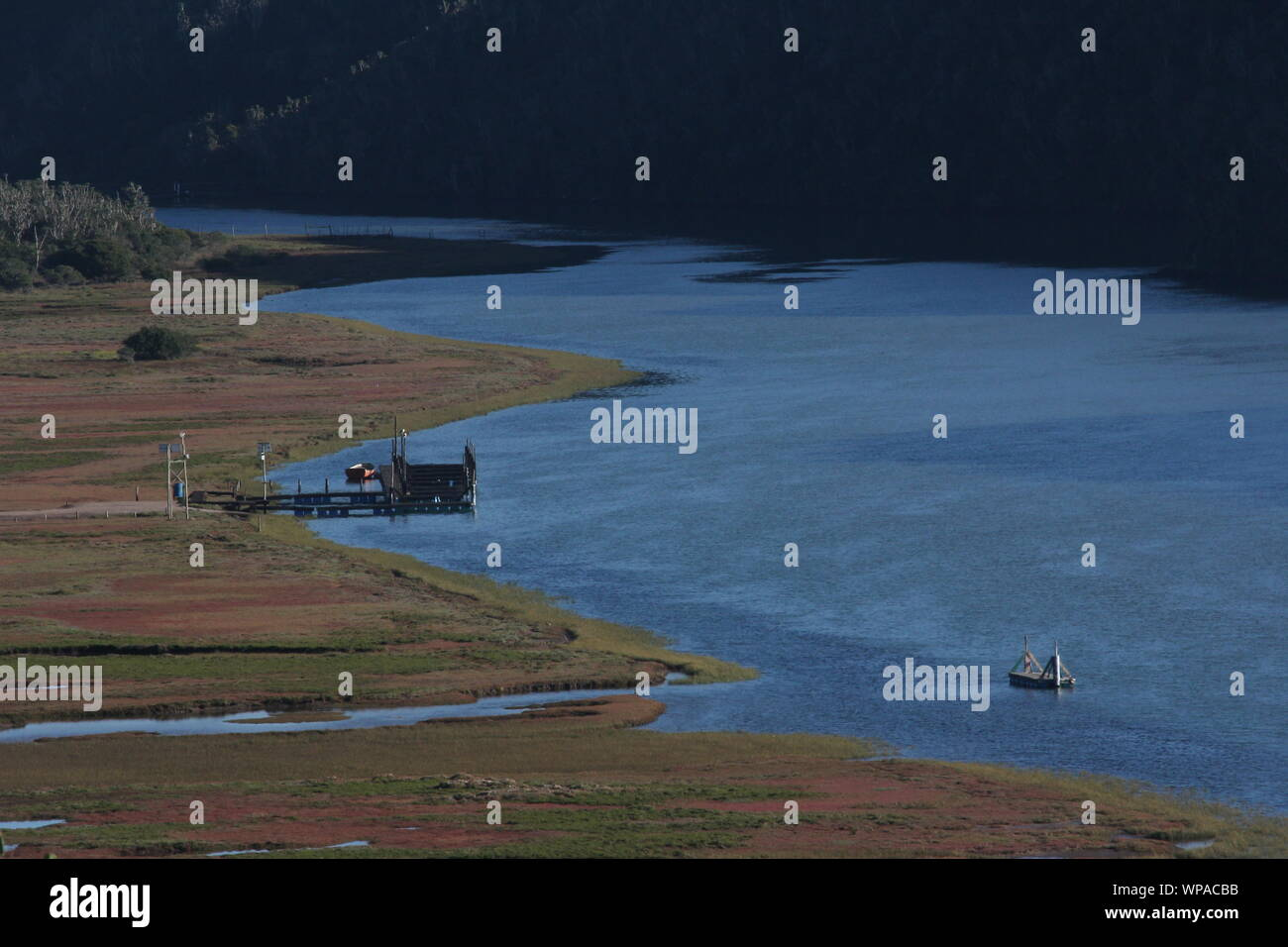 Tidal estuary of Boesmans Rivier west of Kenton-on-Sea, Eastern Cape, South Africa Stock Photo