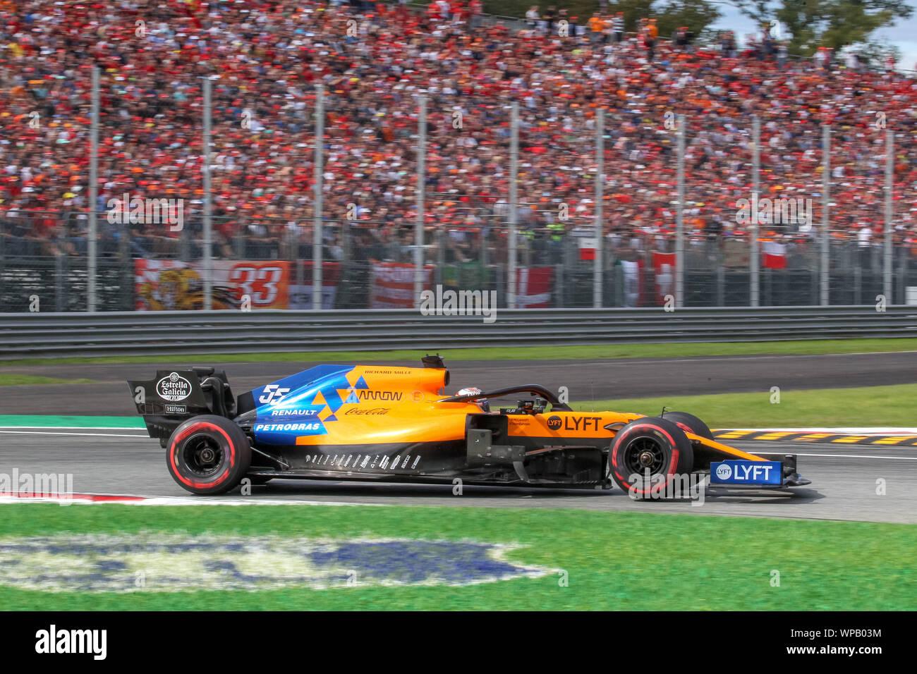 Monza Mb Italy 08 Sep 2019 Carlos Sainz Jr Esp Mclaren F1 Team Mc34 During Grand
