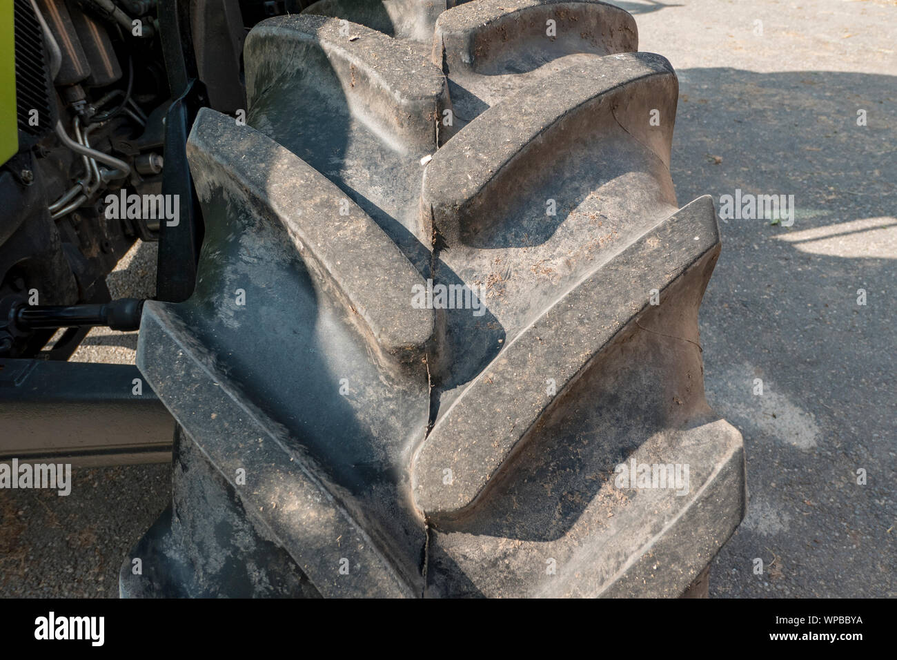 Tractor tyre tread pattern with very coarse studs Stock Photo