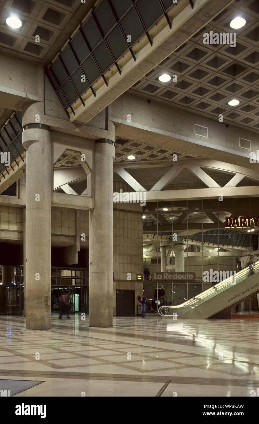 Paris Moderne Architektur Forum Des Halles Vor Dem Umbau