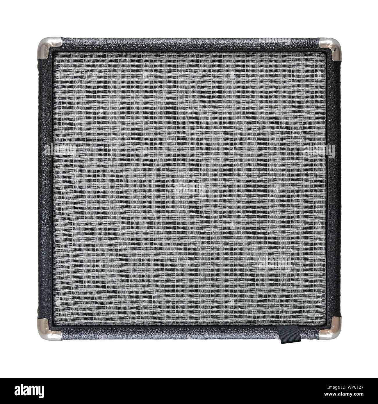 An Isolated Electric Guitar Amplifier Or Speaker On A White Background Stock Photo