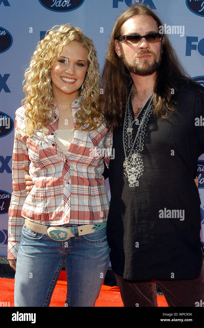 Carrie Underwood And Bo Bice At The American Idol Season 4 Grand Finale Arrivals Held At
