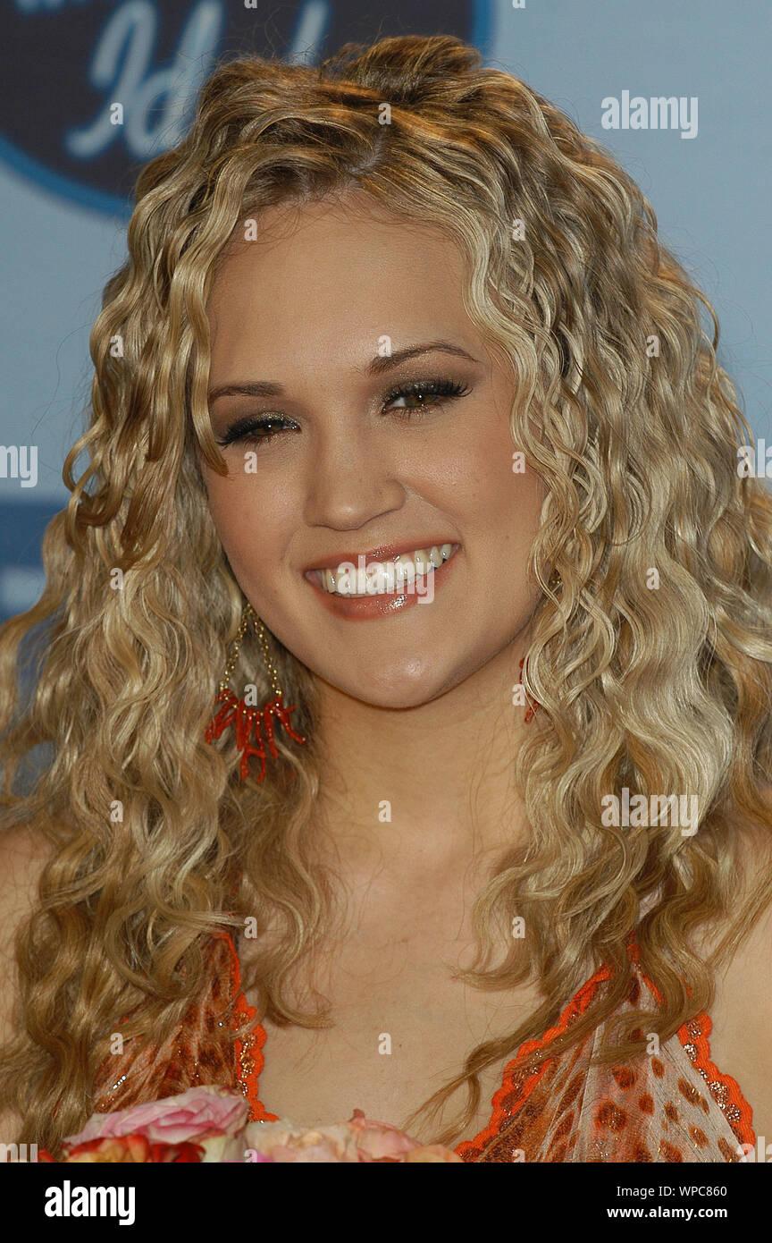 Carrie Underwood American Idol Winner At The American Idol Season 4 Grand Finale Press Room Held