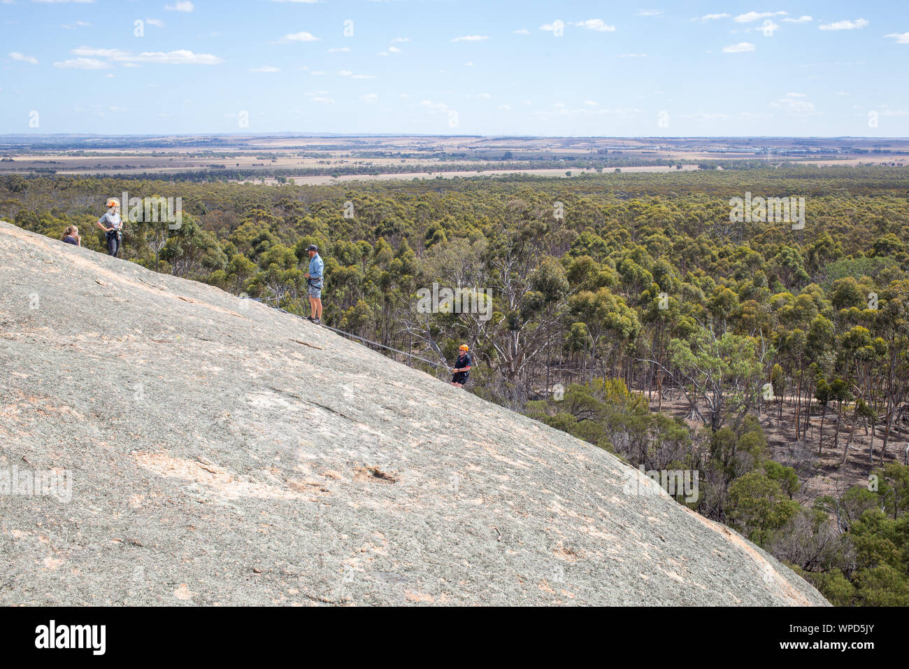 Abesiling from Big Rock, You Yangs Regional Park, Victoria Stock Photo