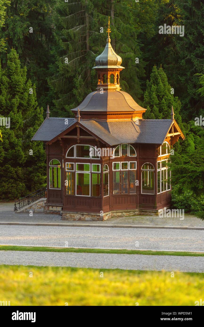 Mountain spa Karlova Studánka in the Czech republic. Stock Photo
