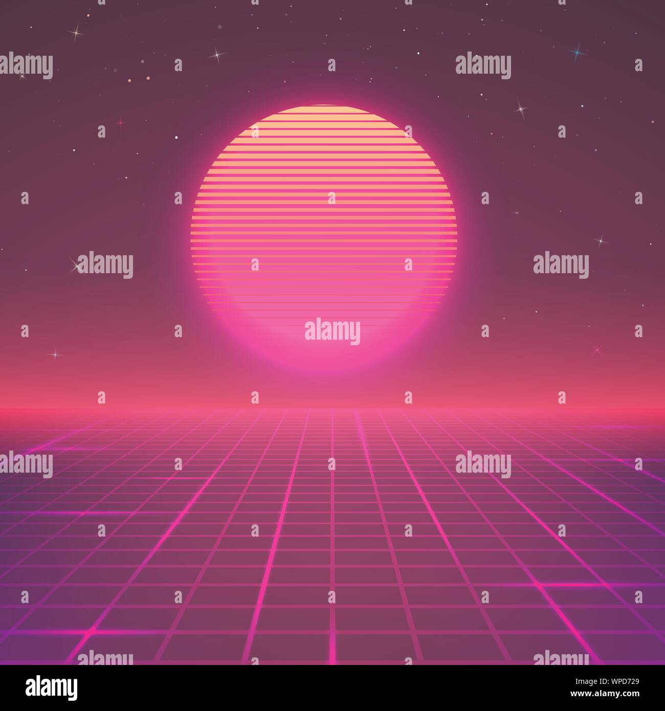 80s Style Background Sci Fi Or Retro Music Poster Wallpaper
