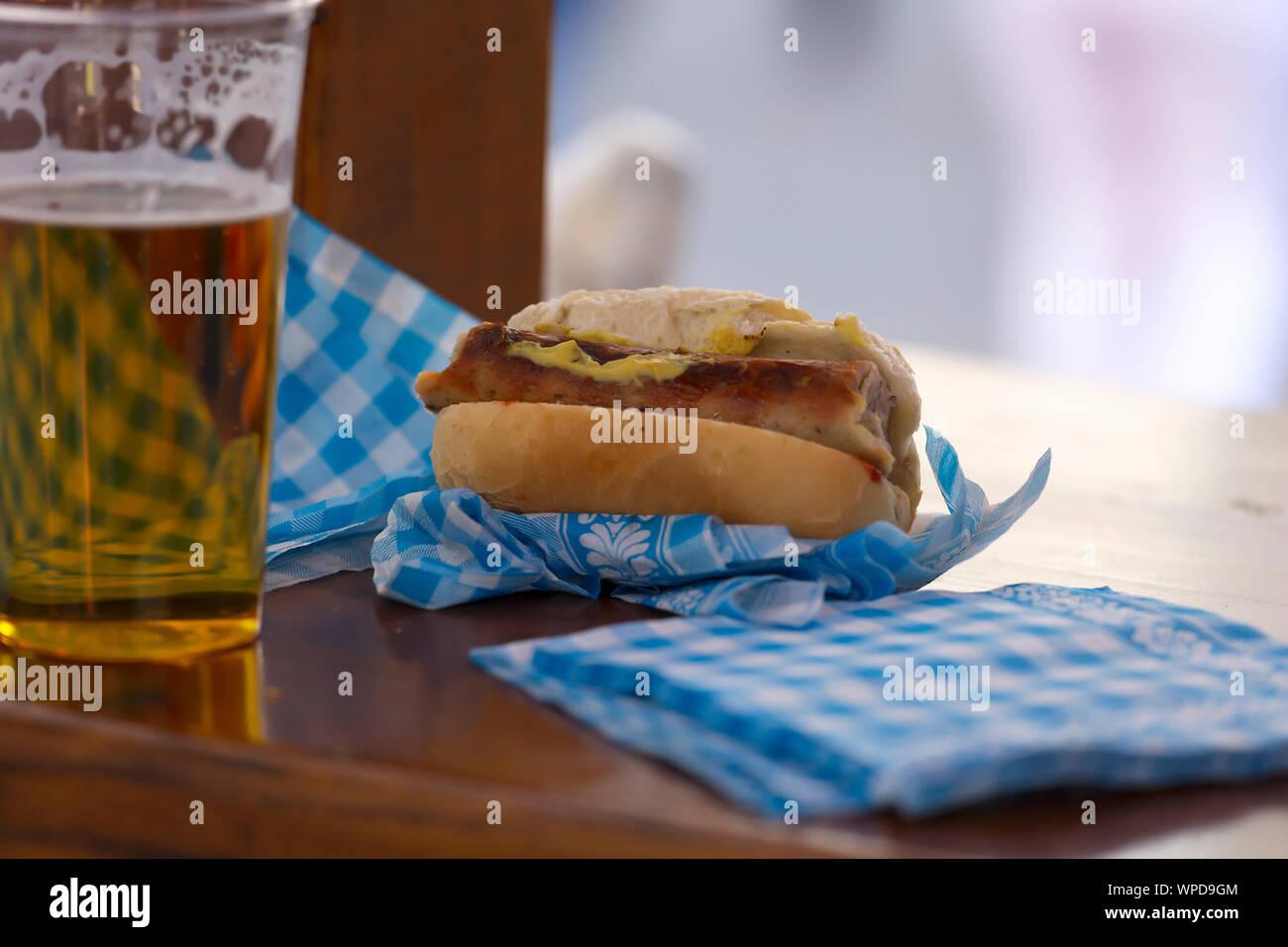 german, oktoberfest 2019, libbey, victoria, german beer, craft beer, stein, dine, pub, munich Stock Photo