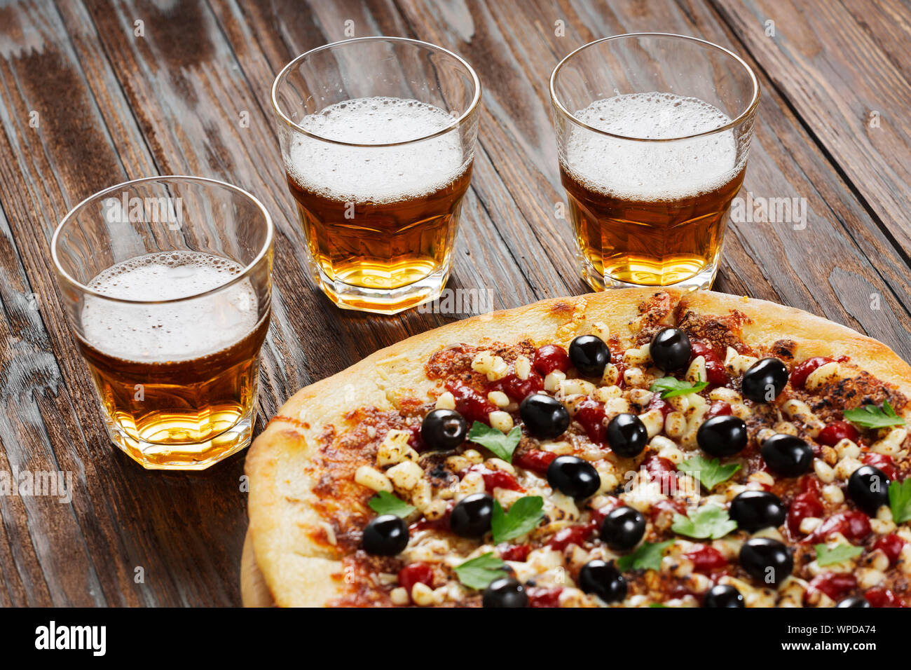 cheese, friends, pepperoni, eating, happy hour, wine, margarita pizza, old town pizza, old town pizza, chilli Stock Photo