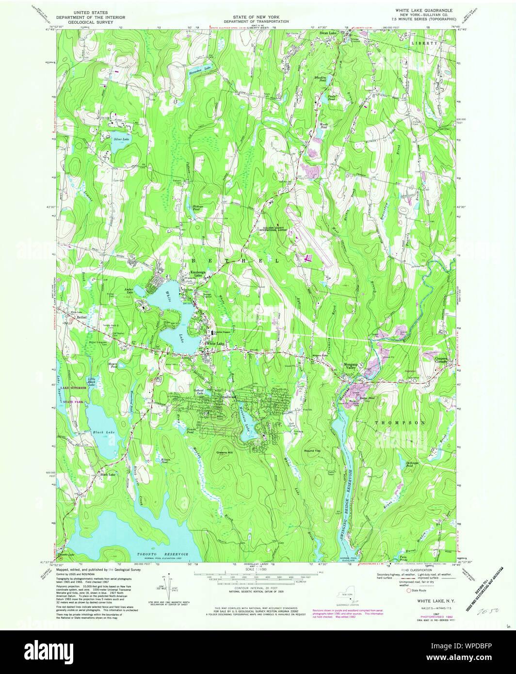 white lake ny map New York Ny White Lake 140258 1967 24000 Restoration Stock Photo 271972394 Alamy white lake ny map