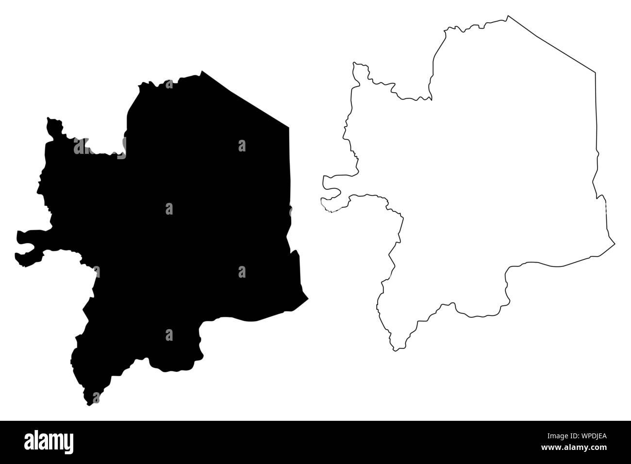 Kara Region (Togolese Republic, Regions of Togo) map vector ...