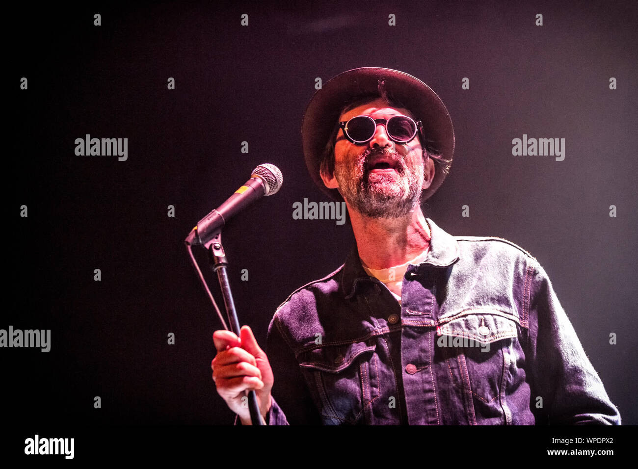 Oslo Norway 28th August 2019 The American Rock Band Eels Performs A Live Concert At Rockefeller In Oslo Here Singer Songwriter And Musician Mark Oliver Everett Is Seen Live On Stage Photo