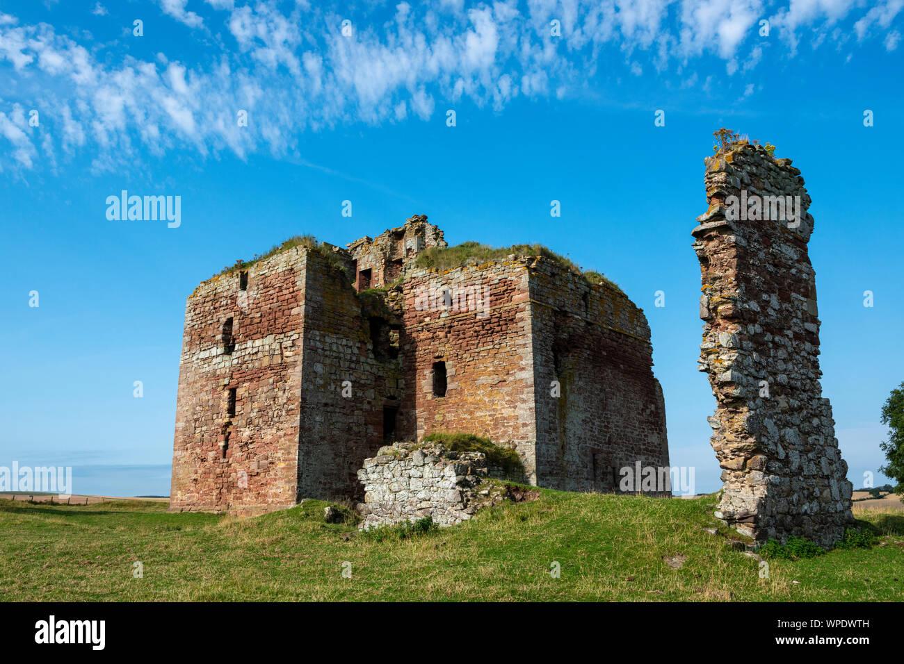 Cessford Castle in Roxburghshire, Scottish Borders, Scotland, UK Stock Photo