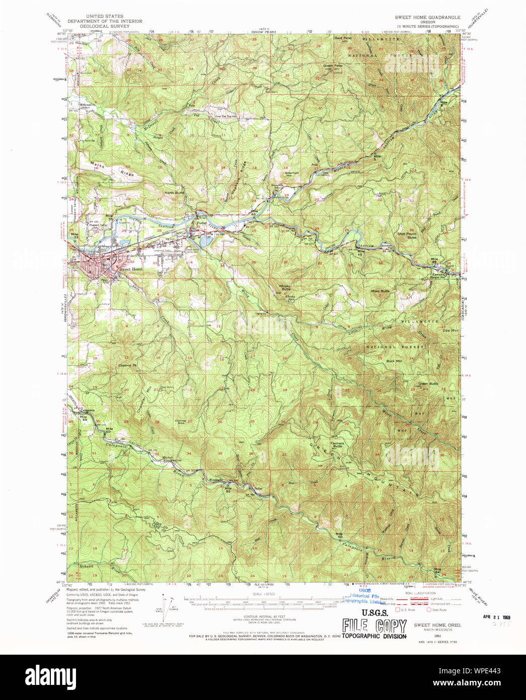 map sweet home oregon Usgs Topo Map Oregon Sweet Home 282935 1951 62500 Restoration map sweet home oregon