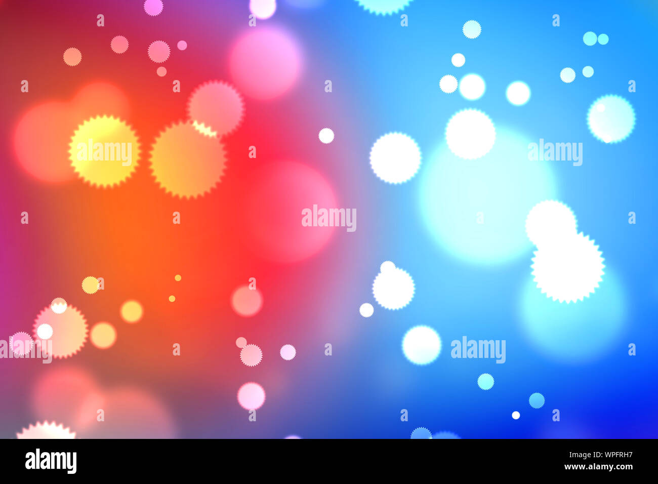 Light Abstract Bokeh Background By Blur Or Defocused At