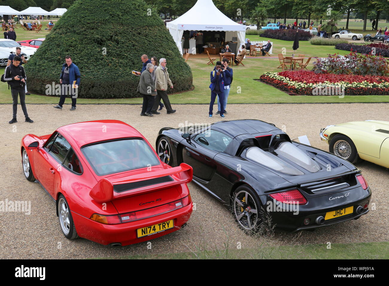 Porsche Carrera Rs And Porsche Carrera Gt Concours Of Elegance 2019 Hampton Court Palace East Molesey Surrey England Great Britain Uk Europe Stock Photo Alamy