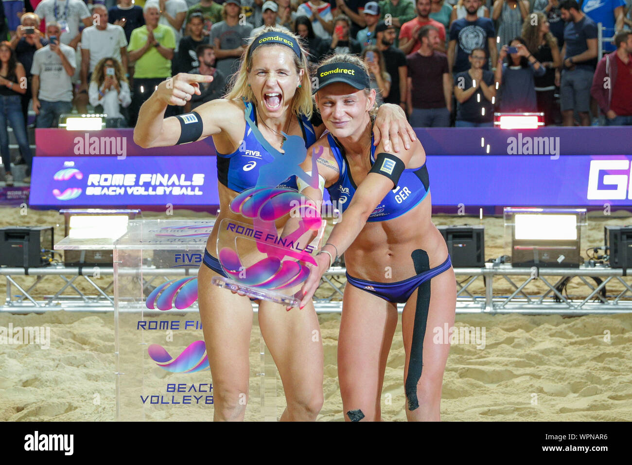 Premiazione Laura Ludwig And Margareta Kozuch During World Tour Finals 2019 Finals Women Roma Italy 08 Sep 2019 Volleyball Beach Volley Stock Photo Alamy