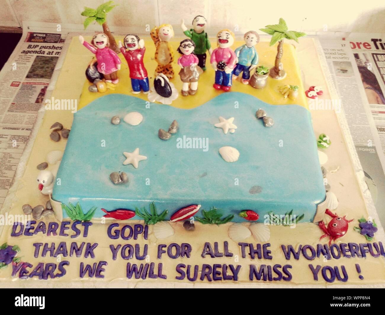 Outstanding Beach Birthday Cake Stock Photo 272167760 Alamy Funny Birthday Cards Online Overcheapnameinfo