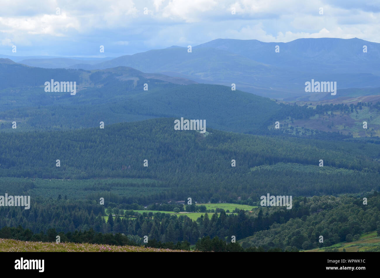 Sgor Buidhe circuit trek near Ballater, Cairngorms, Scotland Stock Photo