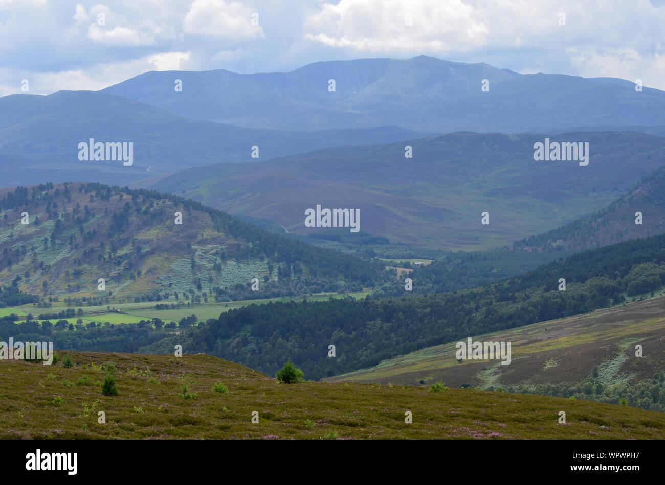 Sgor Buidhe circuit trek near Ballater, Cairngorms, Scotland Stock Photo