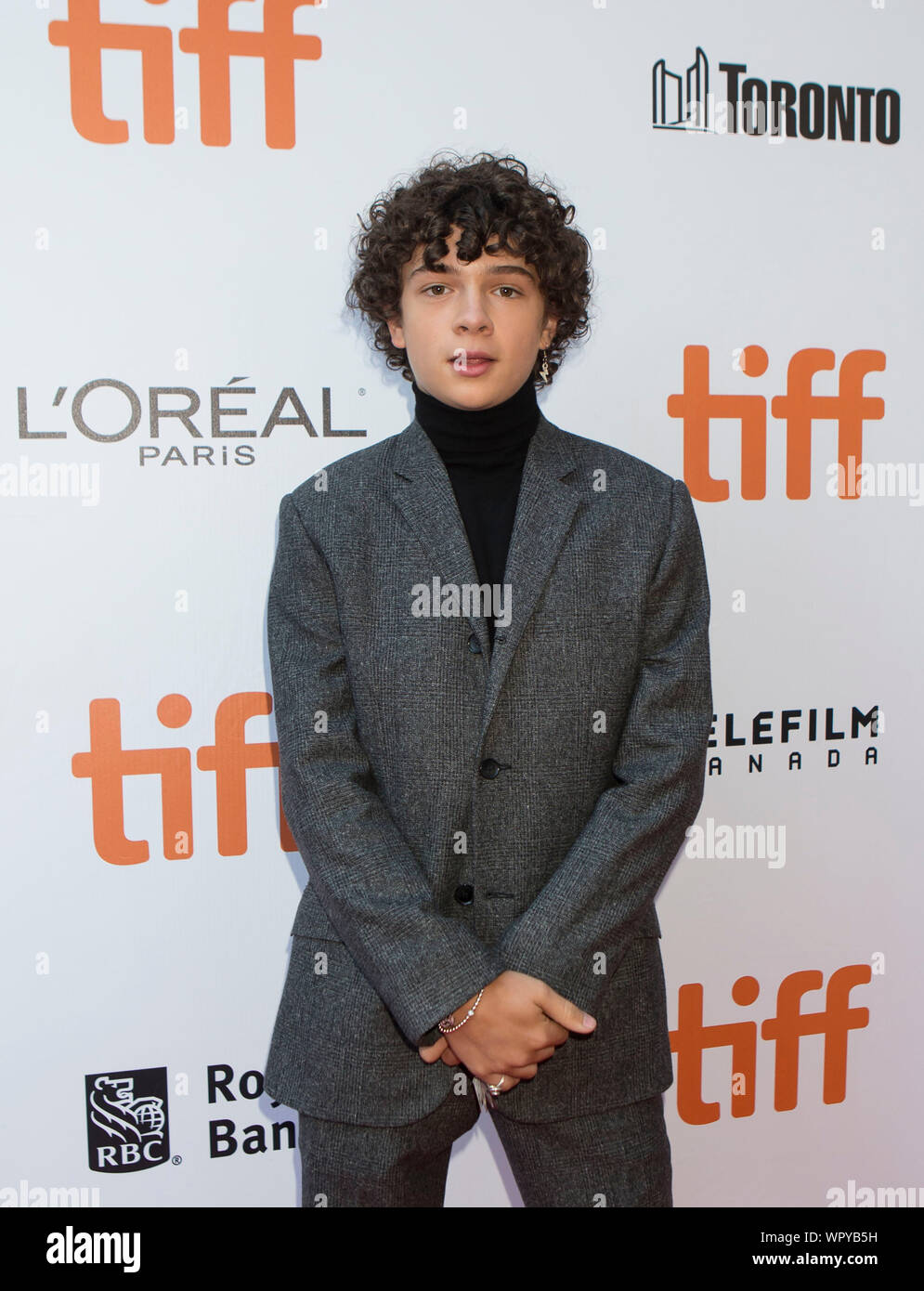 Toronto Canada 9th Sep 2019 Actor Noah Jupe Poses For Photos Before The International Premiere Of The Film Ford V Ferrari At Roy Thomson Hall During The 2019 Toronto International Film Festival