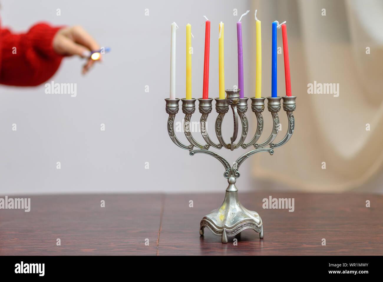 7 Branch Brass Menorah 7 Candlestick Menorah Transparent - Clip Art Library