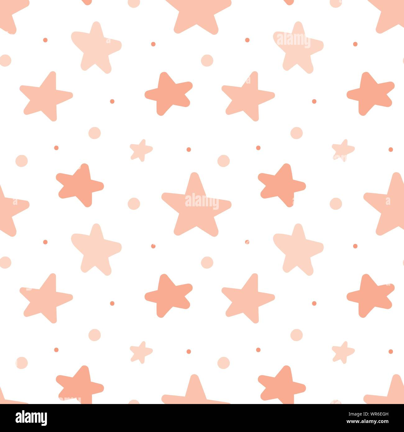 Seamless Pattern Of Pink Stars Concept For Baby Shower Birthday Holiday Sleep Texture Background Wallpaper Wrapping Paper Print For Clothes Stock Vector Image Art Alamy