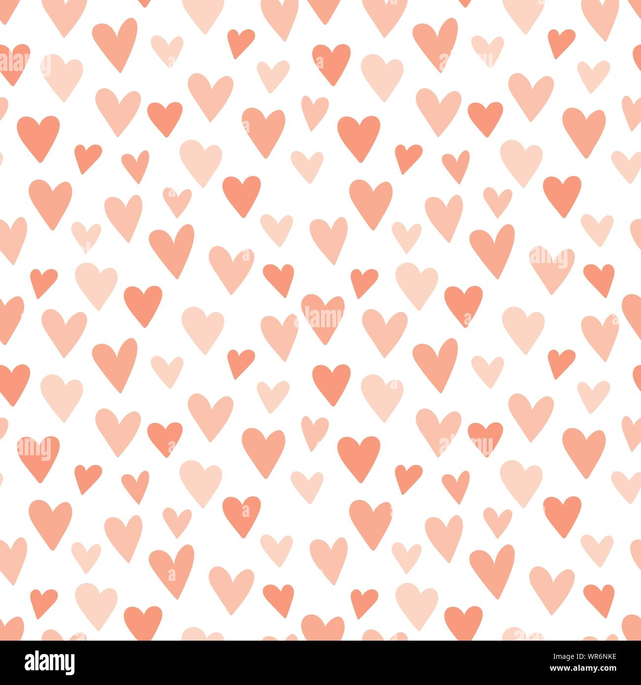 Pink Hearts Seamless Pattern Concept Of Baby Shower