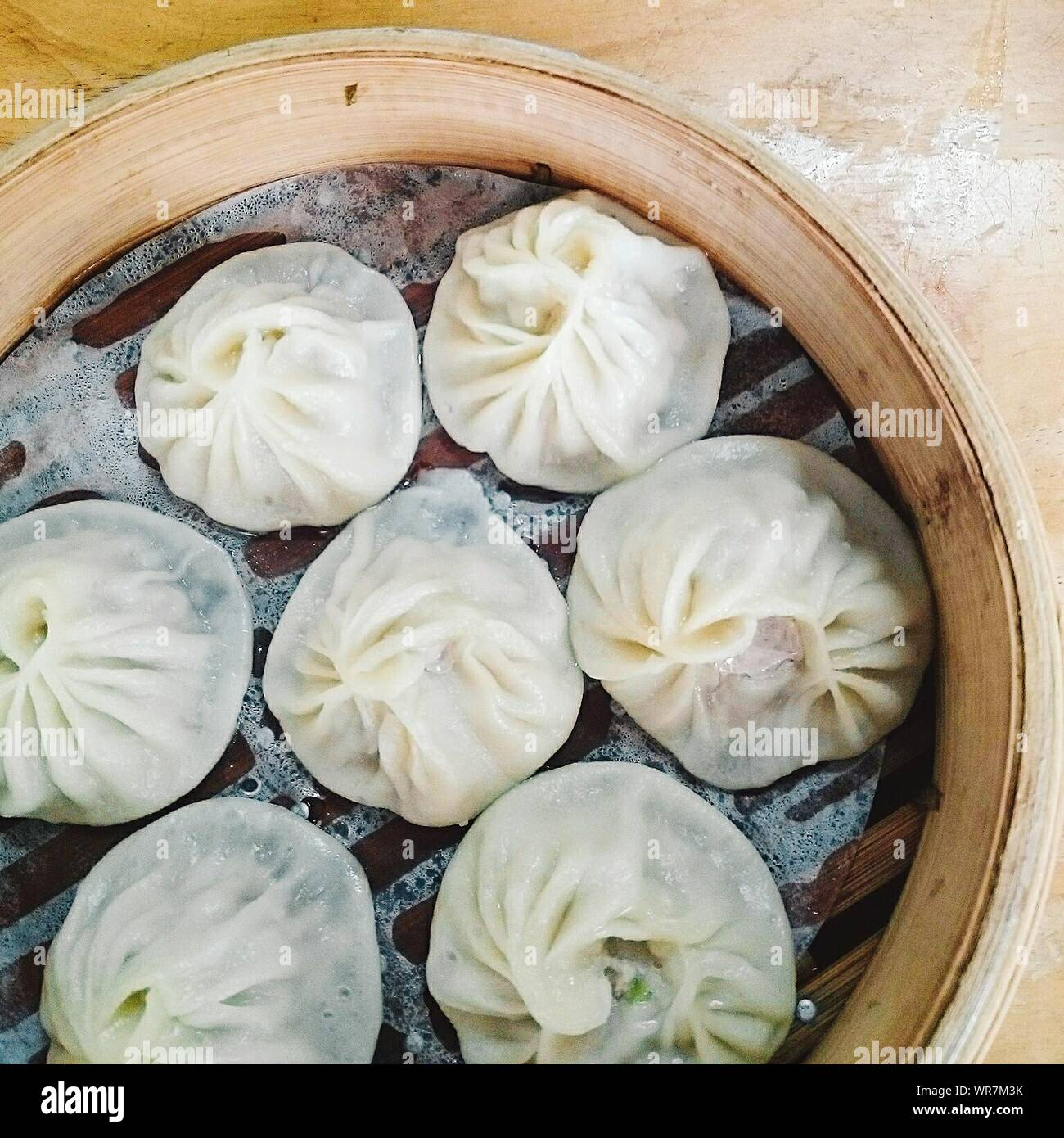 Close-up Of Chinese Dumplings Stock Photo
