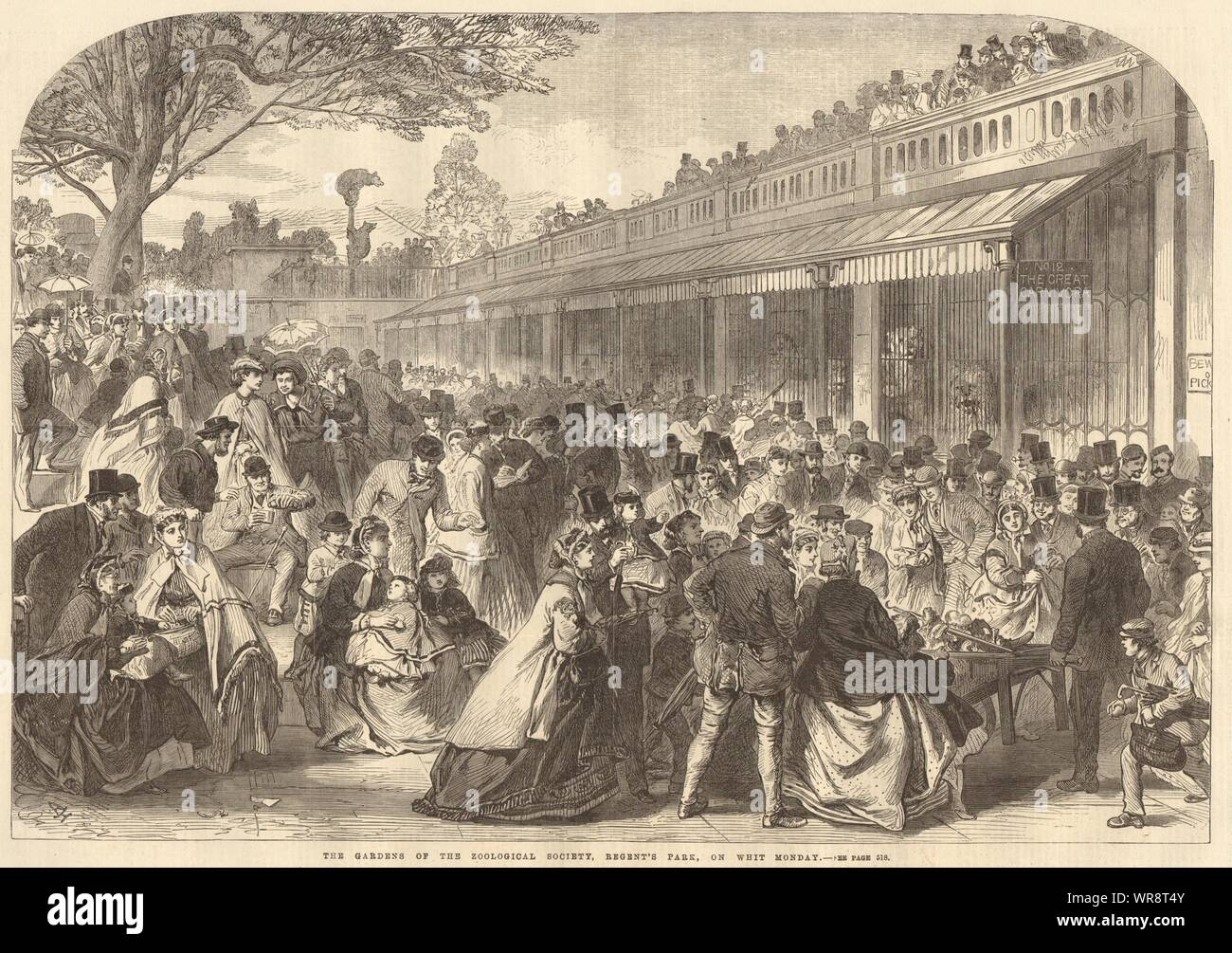The Zoological Society's Gardens, Regent's Park, on Whit Monday. London 1866 Stock Photo