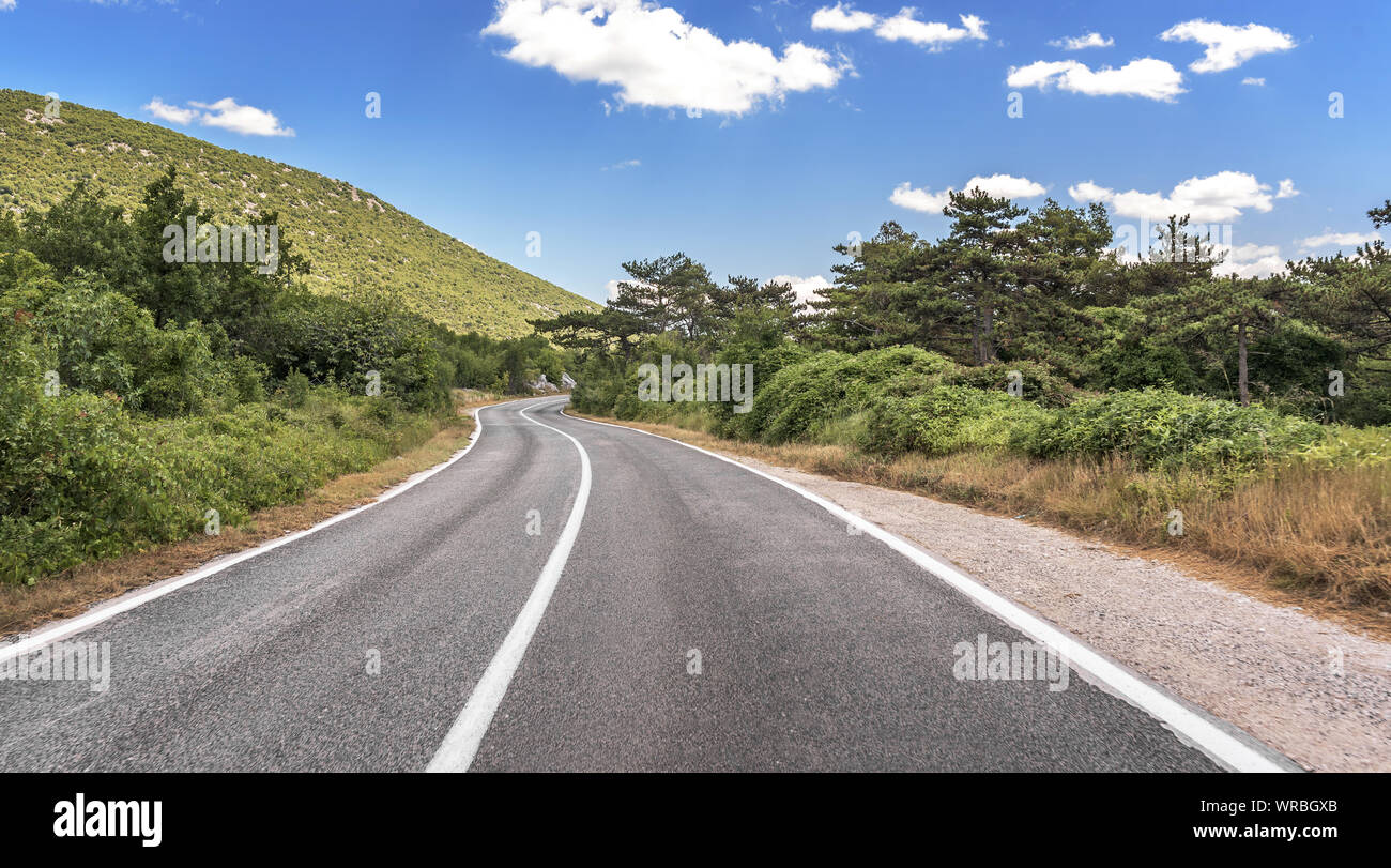 Mountain road for cars. Stock Photo