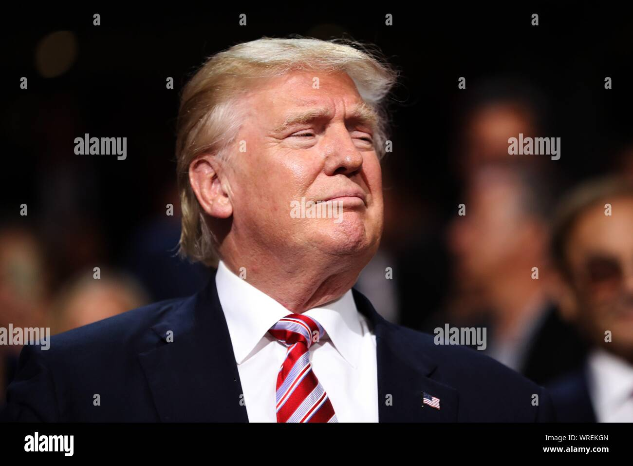 CLEVELAND, OH - JULY 20, 2016: Republican presidential candidate Donald Trump attends the third day of the Republican National Convention. Stock Photo