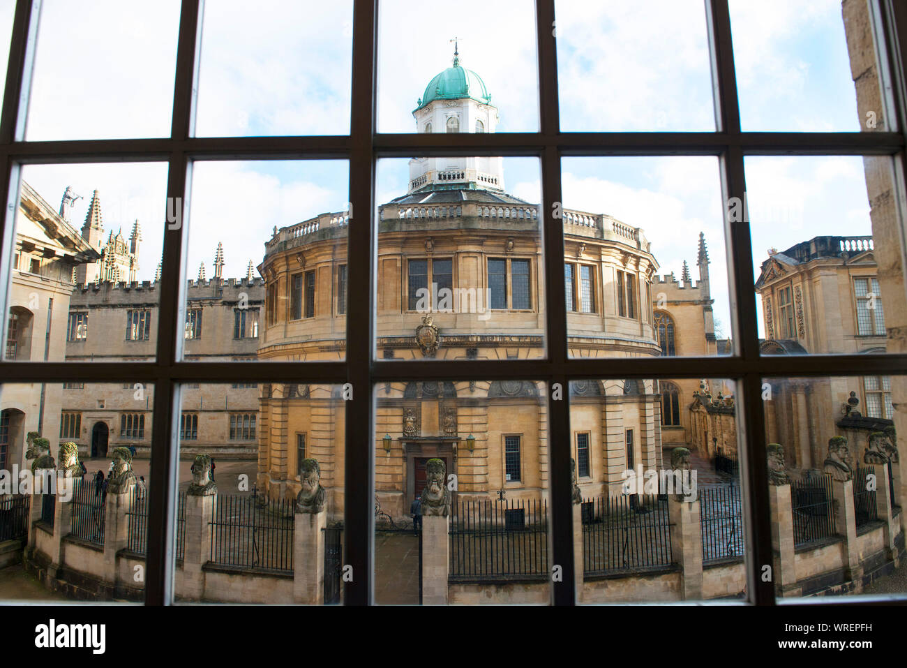 Sheldonian theatre Oxford where degree ceremony ,concerts, and meetings take place. Stock Photo