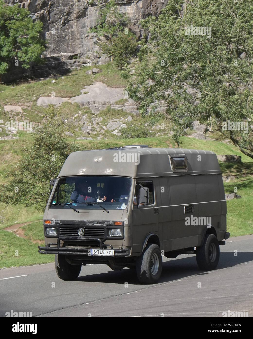 September 2019 Volkswagen Vw Lt 40 4x4 Camper In Cheddar Gorge Stock Photo Alamy