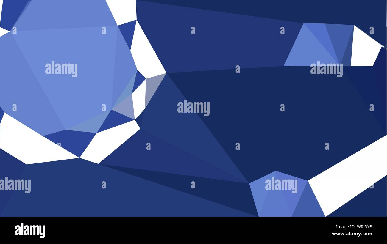 Geometric Multicolor Triangles With Midnight Blue Corn