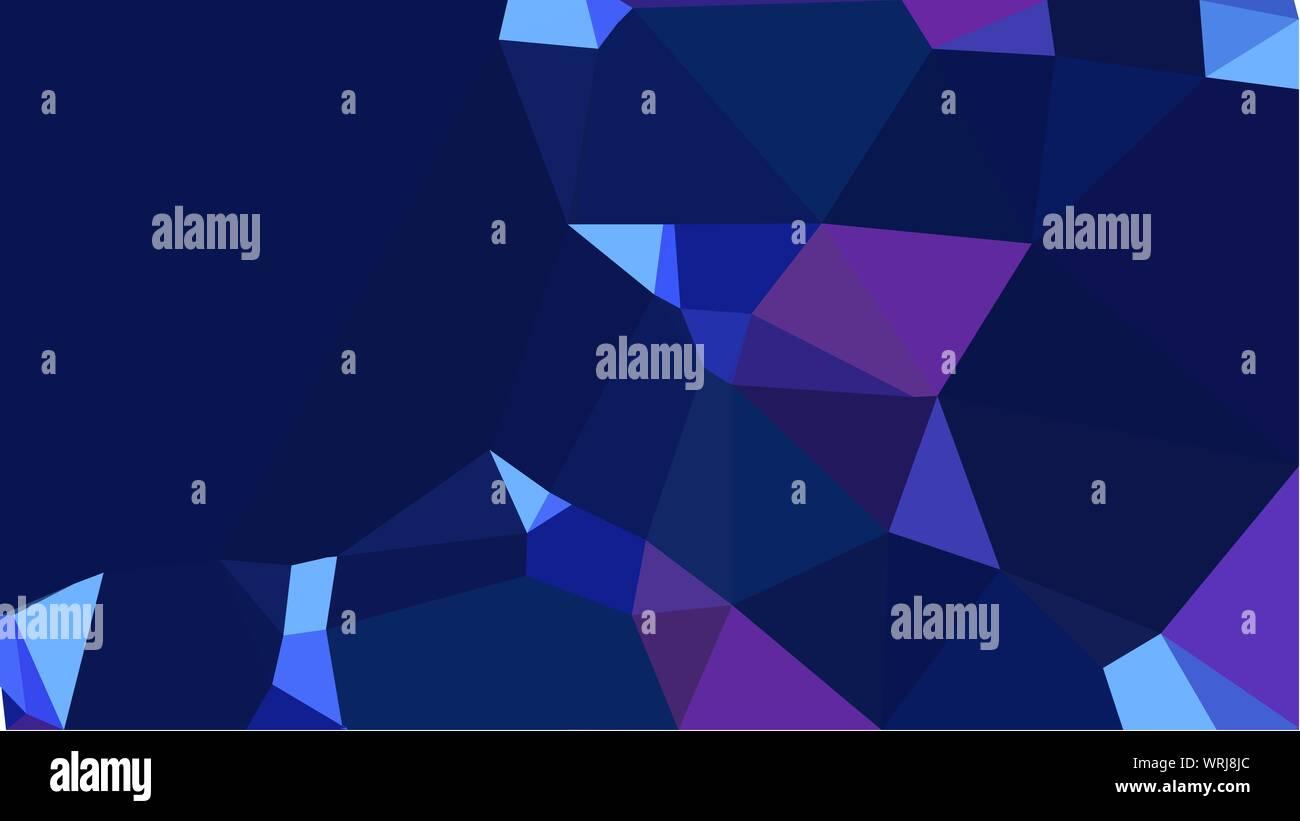 geometric multicolor triangles with midnight blue, very dark