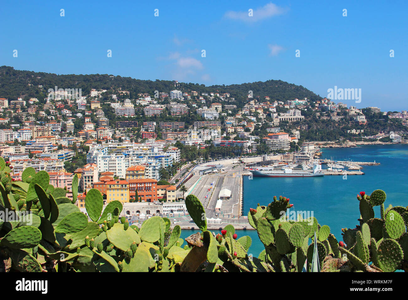 Port of Nice, Cote d'Azur, France Stock Photo