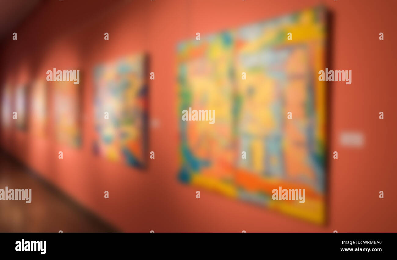 Blurred background. Art exposition exhibition and museum concept. Stock Photo