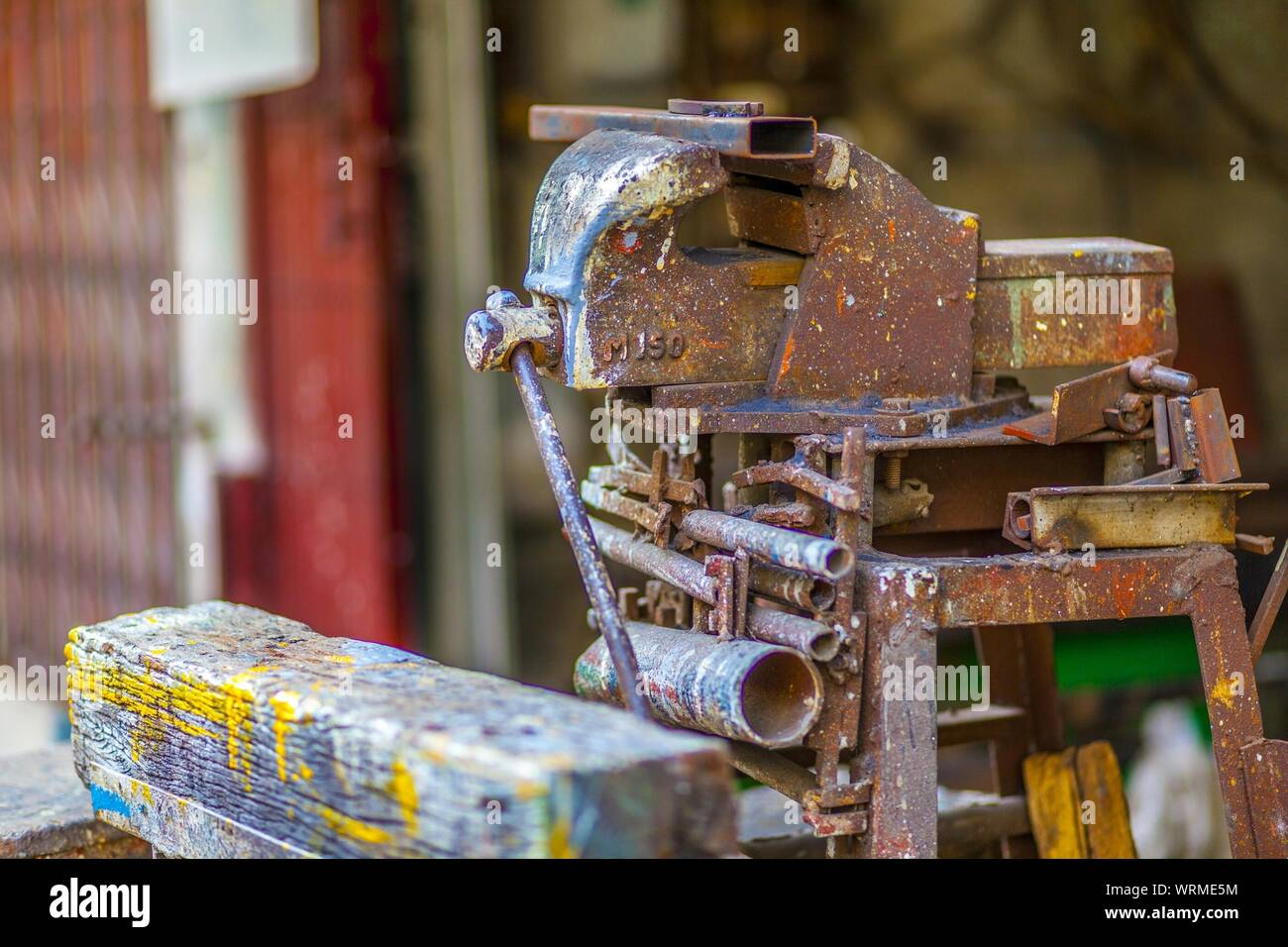 Super Bench Vise Stock Photos Bench Vise Stock Images Alamy Onthecornerstone Fun Painted Chair Ideas Images Onthecornerstoneorg