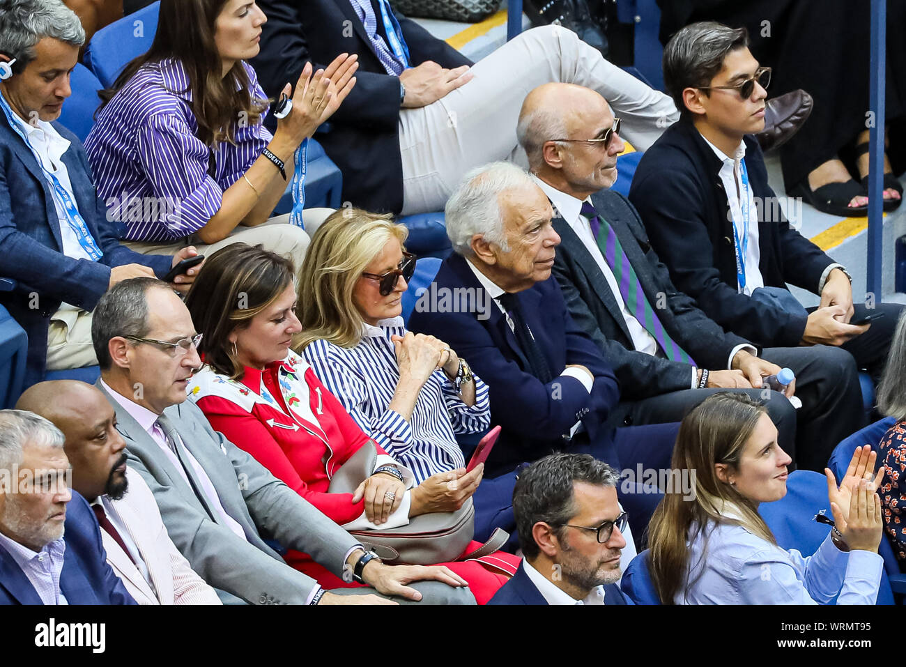 New York Usa 08th Sep 2019 Fashion Designer Ralph Lauren And Wife Ricky Anne Loew Beer