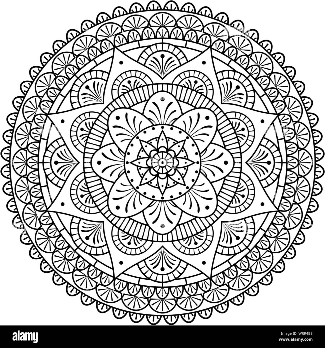 Mandala Art Design Vector