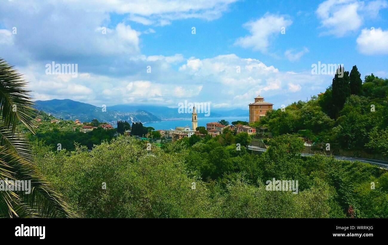 View Of Santa Margherita Ligure Against Sky Stock Photo