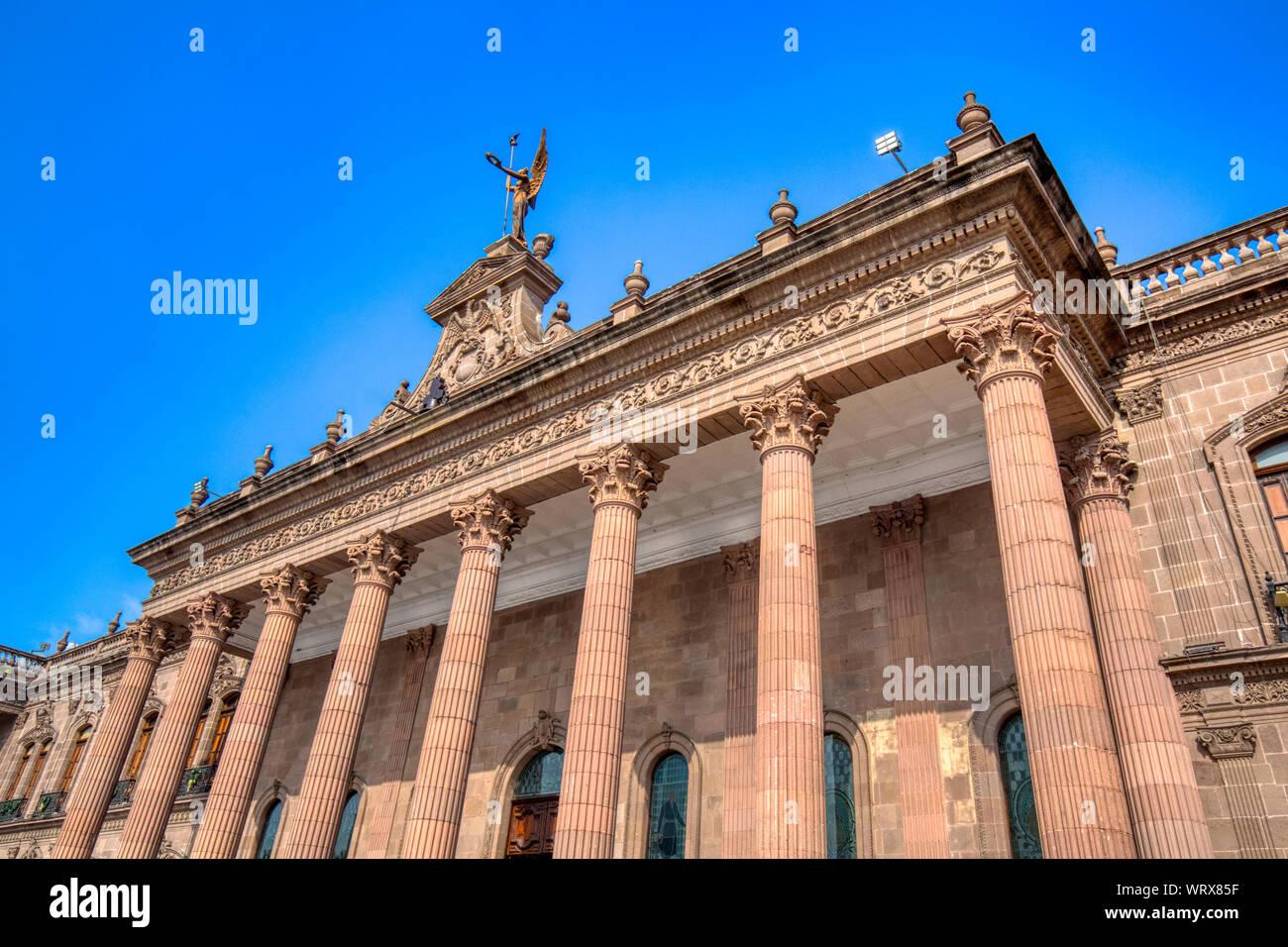 Monterrey, Macroplaza, Government Palace (Palacio del Gobierno) Stock Photo