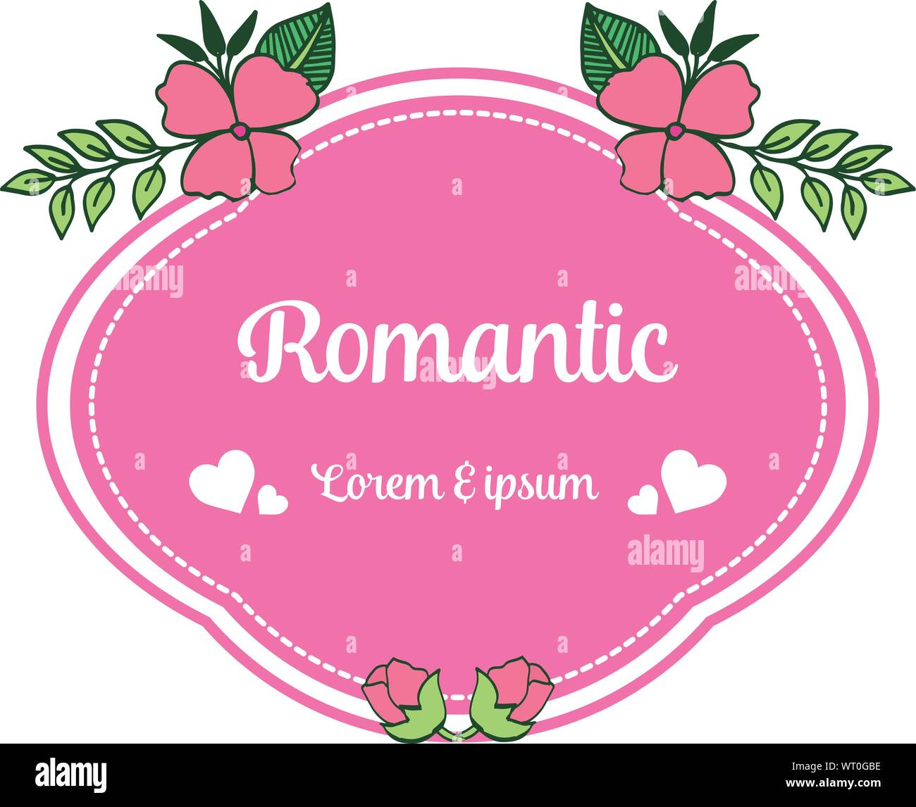 vintage wedding card romantic with pink flower frame on a white background vector stock vector image art alamy https www alamy com vintage wedding card romantic with pink flower frame on a white background vector image272920130 html