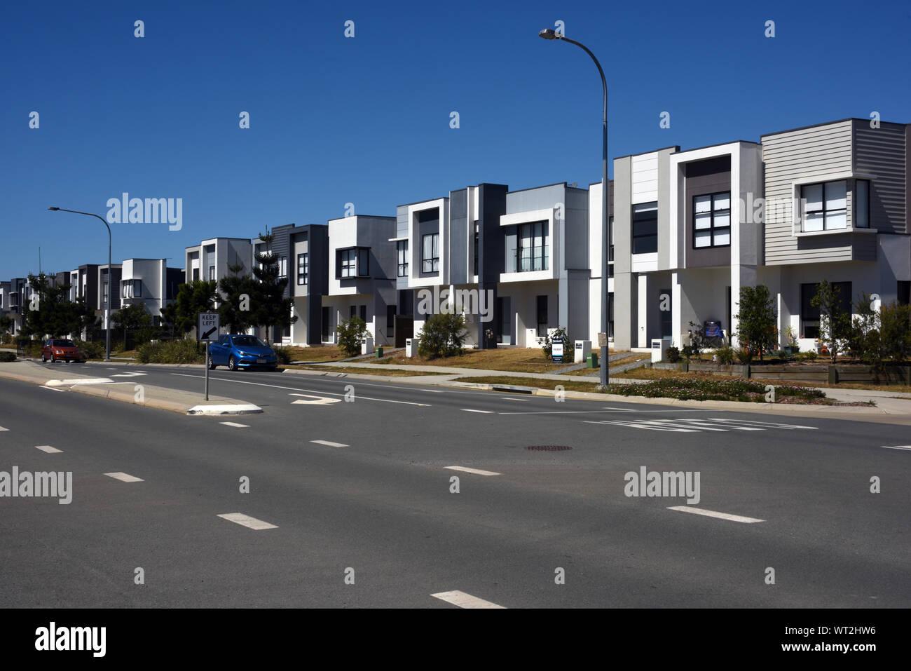 New Housing estate at Mango Hill, Queensland, Australia Stock Photo