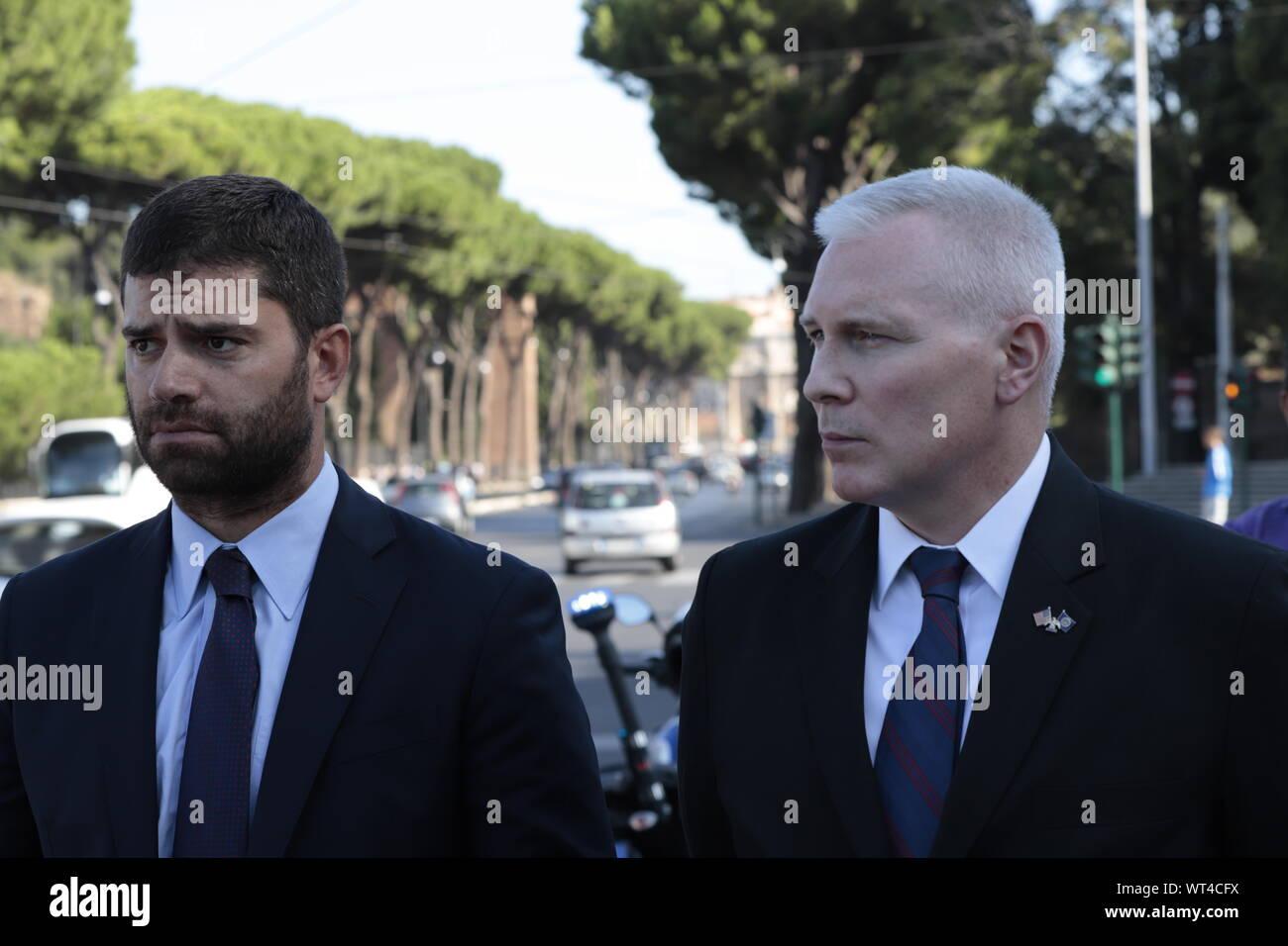 American Ambassador Lewis M. Eisenberg (CLAUDIO SISTO/Fotogramma, ROME - 2019-09-11) p.s. la foto e' utilizzabile nel rispetto del contesto in cui e' stata scattata, e senza intento diffamatorio del decoro delle persone rappresentate Stock Photo