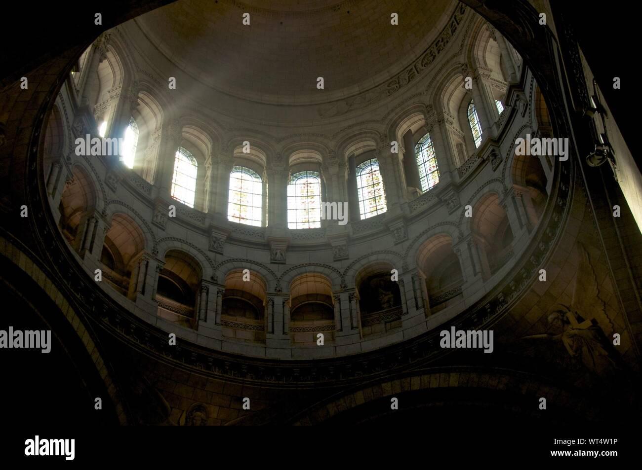 Interior Of Basilique Du Sacre Coeur Stock Photo